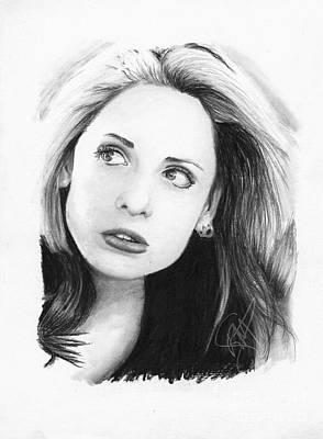 Sarah Michelle Gellar Print by Rosalinda Markle