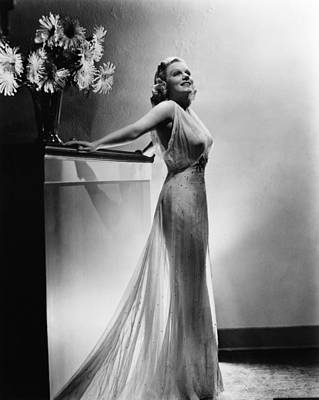 Saratoga, Jean Harlow, In A Gown Print by Everett