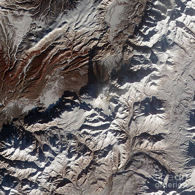 Snow-covered Landscape Photograph - Satellite Image Of Russias Kizimen by Stocktrek Images