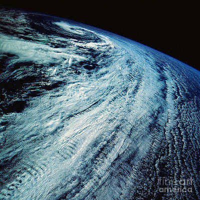 Satellite Images Of Storm Patterns Print by Stocktrek Images
