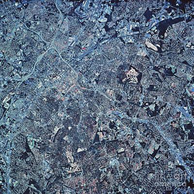 Satellite View Of Charlotte, North Print by Stocktrek Images