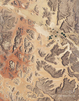 Satellite View Of Wadi Rum Print by Stocktrek Images