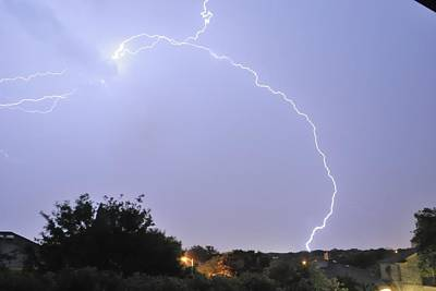 Lightning Photograph - Satx Lighting by Jeremiah Nichols