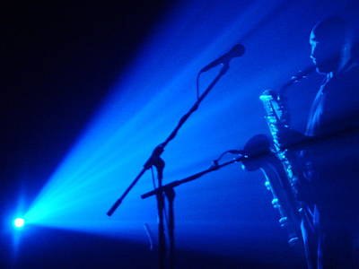 Sax In Blue Print by Anthony Citro