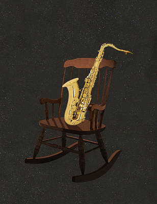 Sax Rocks Print by Eric Kempson