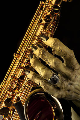 Saxophone Photograph - Saxophone Monster Hand by M K  Miller