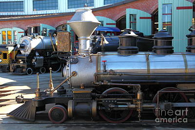 Scale Steam Locomotives - Traintown Sonoma California - 5d19200 Print by Wingsdomain Art and Photography