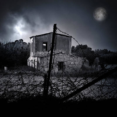 Scary House Print by Stelio Photography