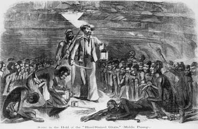 Scene In The Hold Of The Blood-stained Print by Everett