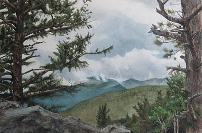 Scenic Overlook Print by Denny Dowdy