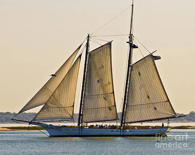 Scenic Schooner Print by Al Powell Photography USA