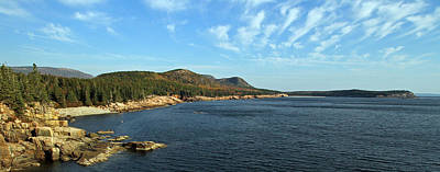 Scenic Seacoast Of Acadia National Park Print by Juergen Roth