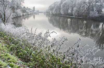 Winter Landscape Photograph - Scenic Views On Severn by Andrew  Michael