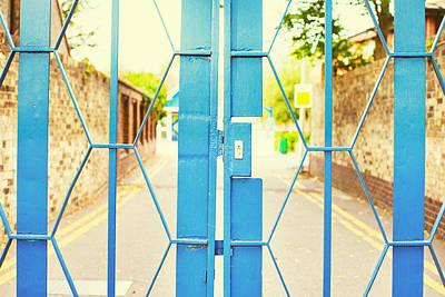 Black Metal Fence Photograph - School Gate by Tom Gowanlock