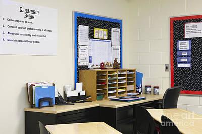 Ambition Photograph - School Teachers Desk by Skip Nall