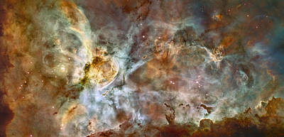 Hubble Space Telescope Views Photograph - Scientists Add Colors Based On Light by ESA and nASA