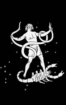 Scorpio And Ophiuchus Constellations Print by