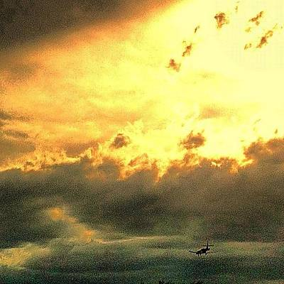 Jet Photograph - Scottsdale Clouds. And Private Jets by John Schultz