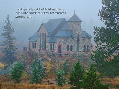 Scripture And Picture Matthew 16 18 Print by Ken Smith