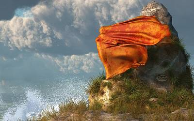 Fluttering Digital Art - Sea Breeze Butterfly by Daniel Eskridge