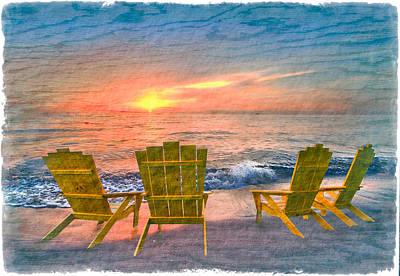 Sea Dreams II Print by Debra and Dave Vanderlaan