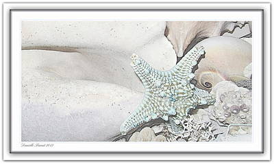 Sea Foam In Pastels Print by Danielle  Parent