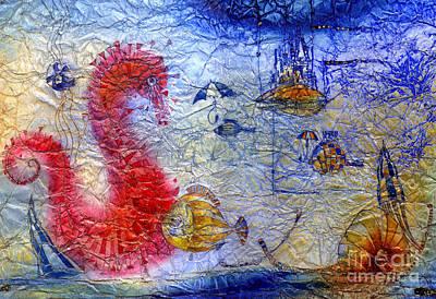 Pegasus Mixed Media - Sea Pegasus by Svetlana and Sabir Gadghievs