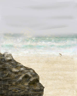 Sandpiper Digital Art - Sea Song by Peri Craig