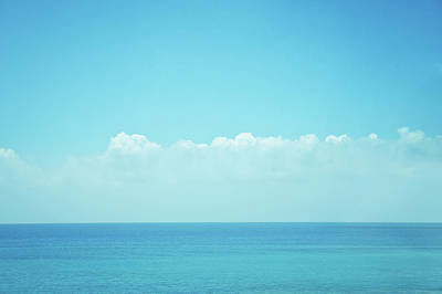 Sea With Sky And Clouds Print by Yiu Yu Hoi