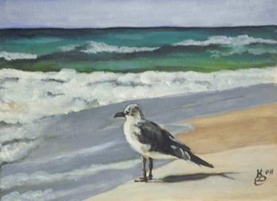 Seagull Print by Kim Selig