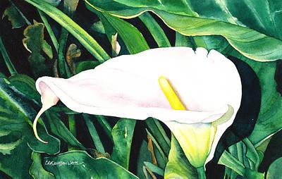 Katherine Hepburn Painting - Sealily by Casey Rasmussen White