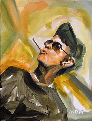 Baseball Cap Painting - Sean Reber by Mark Wickline