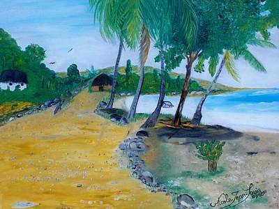 Jacmel Painting - Seascape 1 by Nicole Jean-Louis