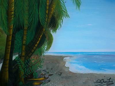 Jacmel Painting - Seascape 3 by Nicole Jean-Louis