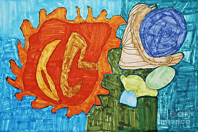 Seashell Still Life Original by Stephanie Ward