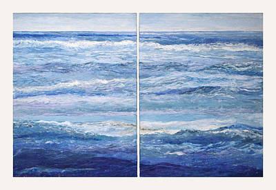 Seashore Diptych Print by Meg Black