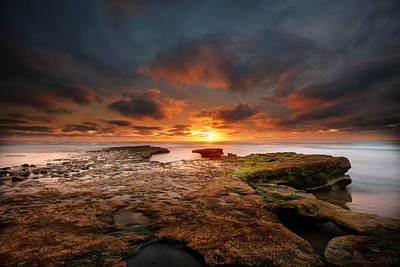 Cardiff Photograph - Seaside Reef Sunset 12 by Larry Marshall