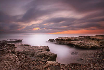 Long Exposure Photograph - Seaside Reef Sunset 5 by Larry Marshall