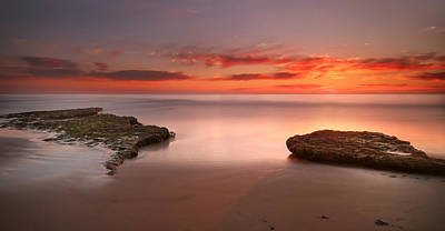Cardiff Photograph - Seaside Reef Sunset 6 by Larry Marshall