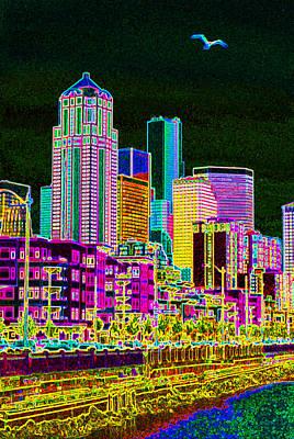 Seattle Gone Wild Original by Ken Dey