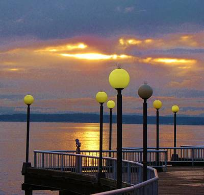 Seattle Sunburst Print by Feva  Fotos