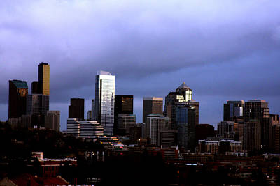 Seattle Sunset Print by Marie Jamieson