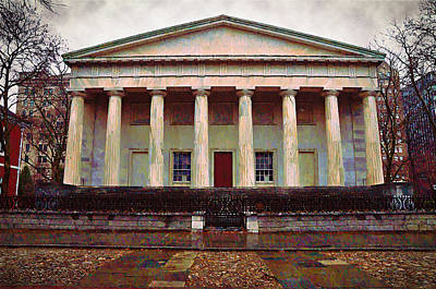 Second Bank Of The United States Philadelphia Pa Print by Bill Cannon