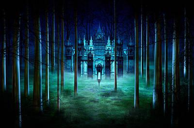 Creepy Mixed Media - Secret Castle by Svetlana Sewell