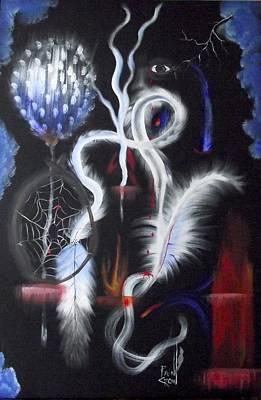 Spirit Catcher Painting - Seeing Into Spirit by Rain Crow