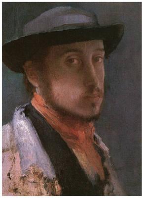 Self-portrait In A Soft Hat Print by Edgar Degas