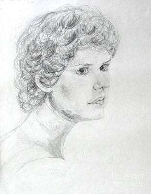 Self Portrait Print by Julie Coughlin