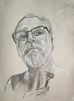 Self Portrait Print by Peter Edward Green