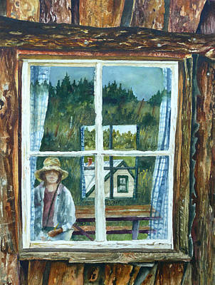 Self Portrait Walker Ranch Original by Anne Gifford