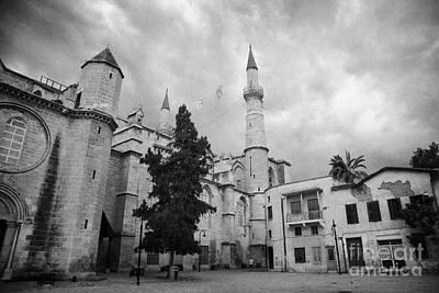 Selimiye Mosque Formerly Saint Sophia Cathedral Nicosia Lefkosia Trnc Turkish Cyprus Nicosia Print by Joe Fox